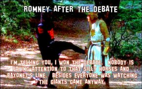 ROMNEY, HORSES AND BAYONETS – POST DEBATE MEMES