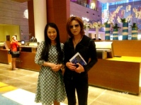 Yoshiki with Fan Emi
