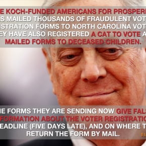 "CLBR Host on Koch Bros./AFP Voter Suppression in NC: ""They're Pond Scum, Not Patriots"""