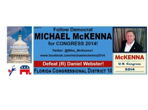 2014 Friends Running For Congress (Part 4): Michael McKenna (FL-10)