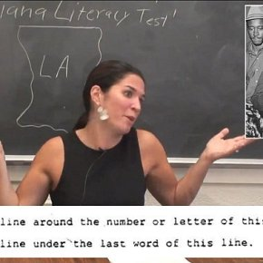 HARVARD STUDENTS FLUNK 1964 LOUISIANA VOTER LITERACY TEST