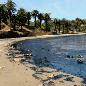 Photos: A ruptured pipeline dumped 21,000 gallons of oil on the Californiacoastline