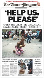 The story of Hurricane Katrina, through stunning local newspaper covers