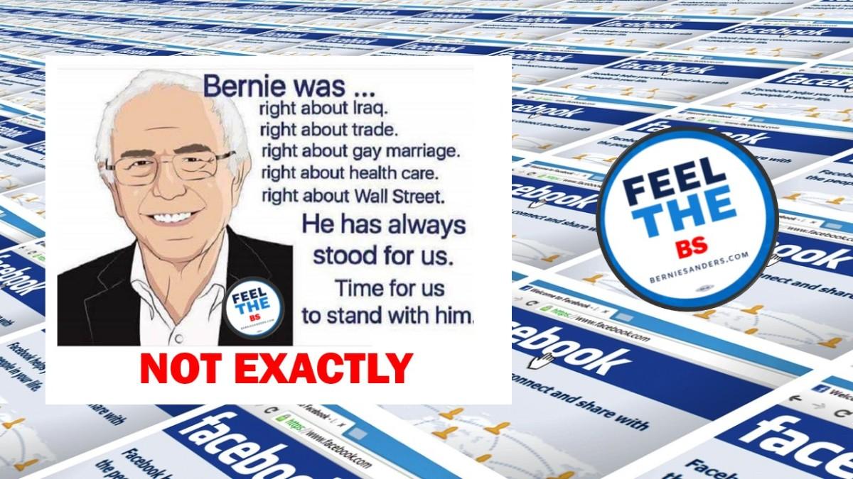 Debunking Sanders' Misinformation Memes