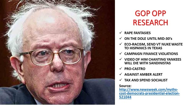 Bernie Opp Research
