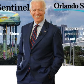 "Two of Florida's Largest Newspapers Endorse Biden, ""Save Our Democracy"" from Trump's ""Spectacular Failure"""